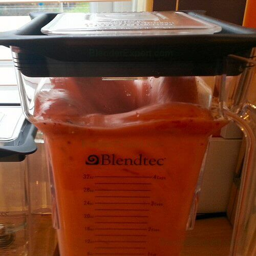 Blendtec Blender Vortex Up Close