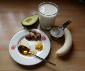 Ingredients for Avocado and Brazil Nut smoothie
