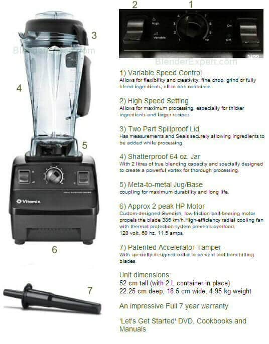 Vitamix 5200 Specifications