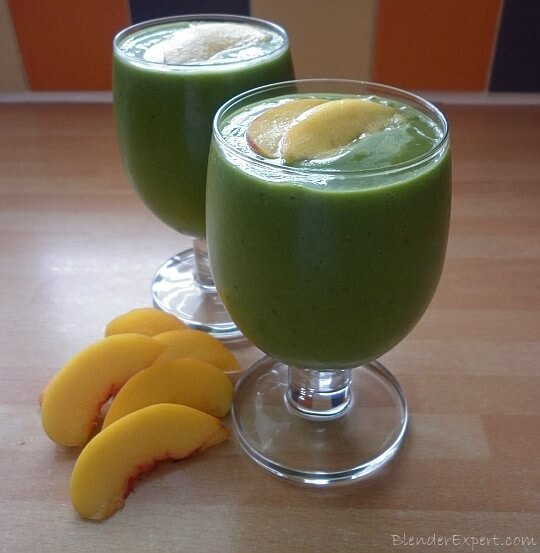 peaches and green smoothie