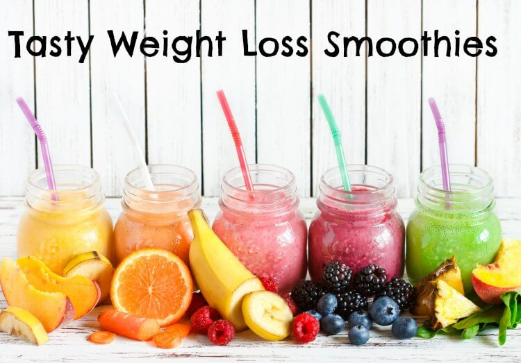 Healthy weight loss smoothie recipes with fresh ingredients